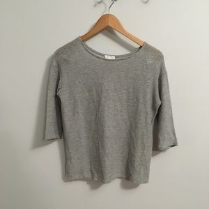 Soft Joie crocheted gray top